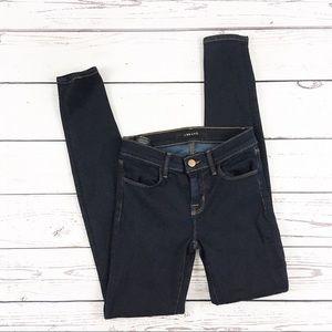 J Brand super skinny jeans metropol size 24 dark